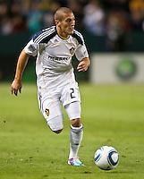 CARSON, CA – June 11, 2011: LA Galaxy midfielder Bryan Jordan (27) during the match between LA Galaxy and Toronto FC at the Home Depot Center in Carson, California. Final score LA Galaxy 2, Toronto FC 2.