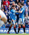 Jon Toral celebrates his goal with provider Emerson Hyndman