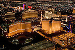 Nevada, NV, Las Vegas Strip, city at night, nightscape, aerial, Photo nv249-17028..Copyright: Lee Foster, www.fostertravel.com, 510-549-2202,lee@fostertravel.com