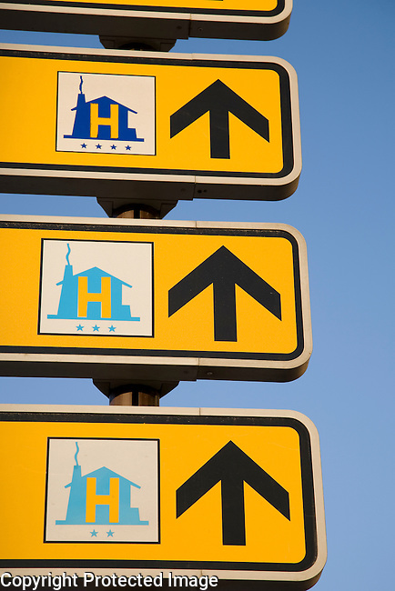 Hotel Signs, Salamanca, Castile and Leon, Spain