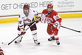 Meagan Mangene (BC - 24), Jenelle Kohanchuk (BU - 19) - The visiting Boston University Terriers defeated the Boston College Eagles 1-0 on Sunday, November 21, 2010, at Conte Forum in Chestnut Hill, Massachusetts.