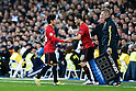 Shinji Kagawa, Ryan Giggs (Man.U), FEBRUARY 13, 2013 - Football / Soccer : UEFA Champions League Round of 16, 1st leg match between Real Madrid 1-1 Manchester United at Estadio Santiago Bernabeu in Madrid, Spain. (Photo by D.Nakashima/AFLO)