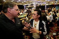28 February 2009: Pro Player Thuan Scotty Ngyuen from Vietnam gives gambling advice out at the 7th Annual WPT World Poker Tour Invitational at the Commerce Casino in Los Angeles, CA. Players compete for poker glory and a  piece of the $200,000 prize pool. Celebrity and Pro card players in action.