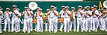 11 September 2016: Over 1000 USNA Midshipmen march on the field prior to a game between the Philadelphia Phillies and the Washington Nationals as part of Heroes Day at Nationals Park in Washington, DC. The Nationals edged out the Phillies 3-2 to take the rubber match of their 3-game series. Mandatory Credit: Ed Wolfstein Photo *** RAW (NEF) Image File Available ***