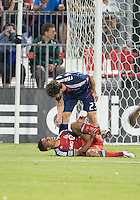 12 September 2012: Chicago Fire defender Arne Friedrich #23 and Toronto FC forward Quincy Amarikwa #18 in action during an MLS game between the Chicago Fire and Toronto FC at BMO Field in Toronto, Ontario Canada. .The Chicago Fire won 2-1.