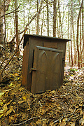 Artifact (heating stove) at Camp 23A of the East Branch & Lincoln Railroad (1893-1948) in the Pemigewasset Wilderness in Lincoln, New Hampshire. This was a mountain logging camp located off the EB&L Railroad.