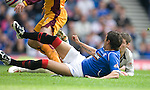 Nacho Novo hooks the ball past Paul Quinn to score for Rangers