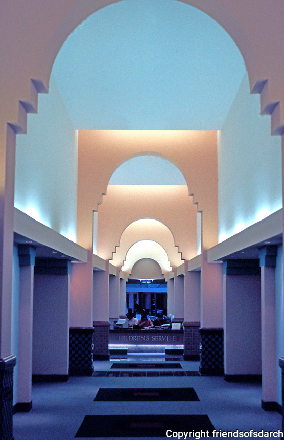 Charles Moore: Beverly Hills Library--interior.  Photo '91.