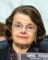 United States Senator Dianne Feinstein (Democrat of California) listens as Judge Neil Gorsuch testifies before the United States Senate Judiciary Committee on his nomination as Associate Justice of the US Supreme Court to replace the late Justice Antonin Scalia on Capitol Hill in Washington, DC on Tuesday, March 21, 2017.<br /> Credit: Ron Sachs / CNP /MediaPunch
