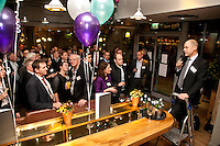 Andy Matthews, Senior Partner at Gateley Nottingham, addresses the audience at the Gateley annual Christmas Drinks party