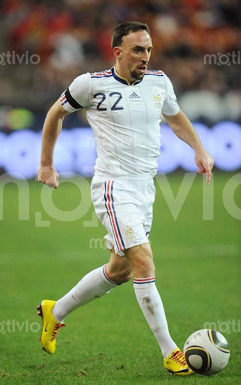 Fussball International Testspiel 03.03.2010 Frankreich - Spanien  Franck Ribery (FRA)