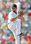9 March 2012: Detroit Tigers pitcher Daniel Schlereth on the mound during a Spring Training game against the Philadelphia Phillies at Joker Marchant Stadium in Lakeland, Florida. The Phillies defeated the Tigers 7-5 in Grapefruit League action. Mandatory Credit: Ed Wolfstein Photo