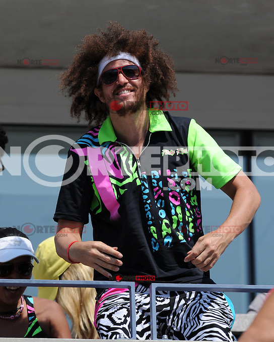August 29, 2012: Stefan Kendal Gordy, aka Redfoo of LMFAO watching the Fish Vs Davydenko match at Arthur Ashe Stadium at the USTA Billie Jean King National Tennis Center in New York City. ..&copy; mpi04 / Mediapunchinc /NortePhoto.com<br /> <br /> **CREDITO*OBLIGATORIO** <br /> *No*Venta*A*Terceros*<br /> *No*Sale*So*third*<br /> *** No*Se*Permite*Hacer*Archivo**<br /> *No*Sale*So*third*