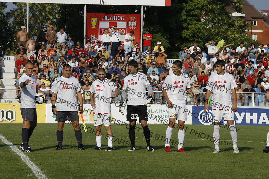Lazetic Nikola Sport Fudbal Soccer Crvena Zvezda Jagodina Red Star Stella Rosa Jelen Superliga 15.8.2009. photo: Pedja Milosavljevic thepedja@gmail.com.