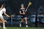 23 February 2017: Notre Dame's Nikki Ortega. The Elon University Phoenix hosted the University of Notre Dame Fighting Irish at Rudd Field in Elon, North Carolina in a 2017 Division I College Women's Lacrosse match. Notre Dame won the game 16-7.
