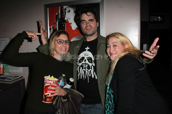 "BEVERLY HILLS, CA - FEBRUARY 28: Kristina Klebe, Joe Lynch, Jennifer Blanc-Biehn at the ""Everly"" Opening Weekend Splatter-Ganza at Laemmle's Music Hall, Beverly Hills, California on February 28, 2015. Credit: David Edwards/DailyCeleb/MediaPunch"