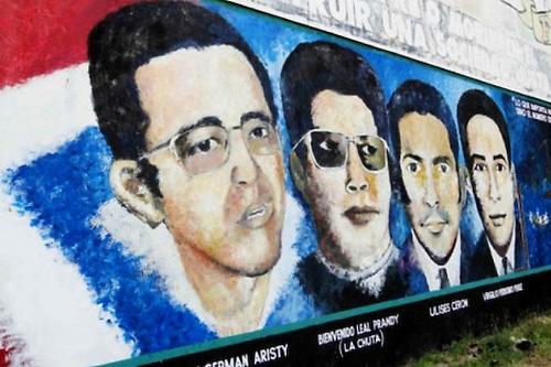 Mural conmemorativo de Amaury y el grupo Los Palmeros
