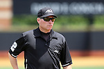 21 May 2016: Third base umpire Greg Howard. The Wake Forest University Demon Deacons played the University of Louisville Cardinals in an NCAA Division I Men's baseball game at David F. Couch Ballpark in Winston-Salem, North Carolina. Louisville won the game 9-4.