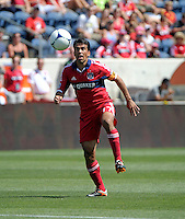 Chicago midfielder Pavel Pardo (17) plays the ball.  The LA Galaxy defeated the Chicago Fire 2-0 at Toyota Park in Bridgeview, IL on July 8, 2012.