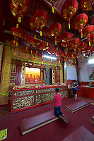 Malaysia, Penang. Old Georgetown Streets - a UNESCO World Heritage site. Kuan Yin Temple.