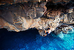 Deep Water Soloing somewhere on the edge of the world.  Big Island, Hawaii.
