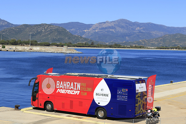 Arbatax, sign on for Stage 3 of the 100th edition of the Giro d'Italia 2017, running 148km from Tortoli to Cagliari, Sardinia, Italy. 7th May 2017.<br /> Picture: Eoin Clarke | Cyclefile<br /> <br /> <br /> All photos usage must carry mandatory copyright credit (&copy; Cyclefile | Eoin Clarke)