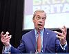Nigel Farage <br /> UKIP Leader <br /> Resignation speech <br /> at Emmanuel Centre, Westminster, London, Great Britain <br /> 4th July 2016 <br /> <br /> <br /> Nigel Farage <br /> <br /> <br /> Photograph by Elliott Franks <br /> Image licensed to Elliott Franks Photography Services