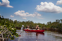 Everglades Paddle, Chickee, Everglades National Park, Hell's Bay Canoe Trail to Pearl Bay Chickee (raised camping platform above water for tents)