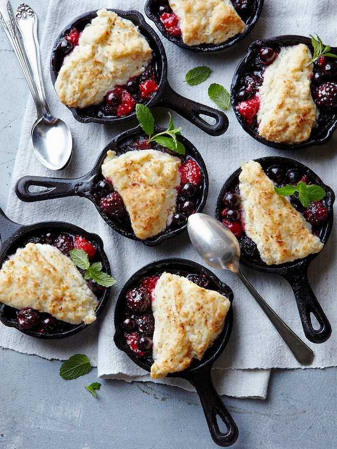 Mini Berry Cobblers