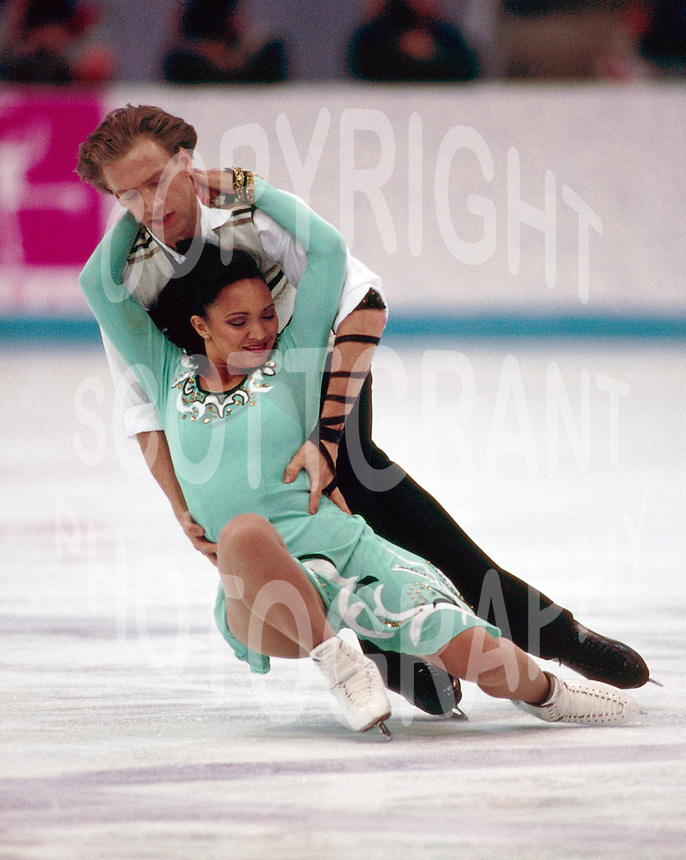 Jennifer Goolsbee and Hendryk Schamberger, Germany,1994 Olympics Lillehammer. Photo Scott Grant
