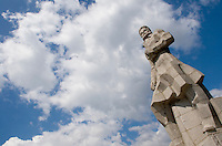 A monument for the respected poet and revolutionary Hristo Botev. Botev's memory still lives on as a sign of liberty. Kalofer, Bulgaria, 2005
