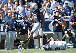 _88R4504..2012 FTB vs Weber State University..BYU - 45.Weber State - 6. .Photo by Jaren Wilkey/BYU..September 8, 2012..© BYU PHOTO 2012.All Rights Reserved.photo@byu.edu  (801)422-7322