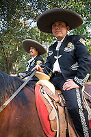 Mounted police in Chapultepec Park, Mexico City