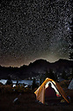 WY01287-00...WYOMING - Nighttime at campsite overlooking Island Lake and up into Titcomb Basin in the Bridger Wilderness area of the Wind River Range.