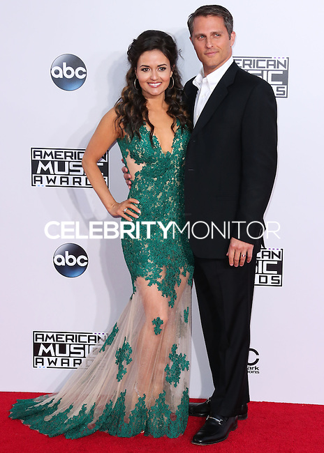 LOS ANGELES, CA, USA - NOVEMBER 23: Danica McKellar, Scott Sveslosky arrive at the 2014 American Music Awards held at Nokia Theatre L.A. Live on November 23, 2014 in Los Angeles, California, United States. (Photo by Xavier Collin/Celebrity Monitor)