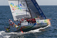 FRANCE, Belle Ile. 1st July 2012. Volvo Ocean Race, Leg 9 Lorient-Galway.Team Sanya.
