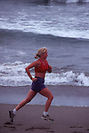 Woman running at Bodega Dunes State Park