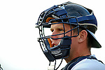 19 June 2008: Vermont Lake Monsters catcher Ricky Nolan warms up in the bullpen prior to a game against the Oneonta Tigers at historic Centennial Field in Burlington, Vermont. The Tigers defeated the Lake Monsters 13-8 in the rubber match of their three-game season opening series in Vermont...Mandatory Credit: Ed Wolfstein Photo