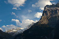 The Eiger at sunset with clouds - Grinderalwd - Alps Switzerland