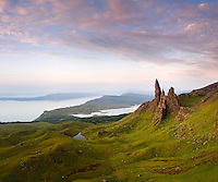 A climb up in the dark was well worth it to be able to photograph the 'old man of Storr' as the sun came up and lit up the island.