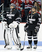 Russ Stein (PC - 1), Stefan Demopoulos (PC - 12) - The Boston University Terriers defeated the visiting Providence College Friars 4-2 (EN) on Saturday, December 13, 2012, at Agganis Arena in Boston, Massachusetts.