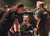 """Enjoying a break in rehearsals.  Special Olympics Surrey put on a show,   """"Beyond the Stars"""", at the Rose Theatre, Kingston upon Thames to raise money for the  SOGB team.  The Special Olympics are for athletes with learning disabilities."""
