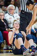 College Park, MD - DEC 29, 2016: Connecticut Huskies guard/forward Katie Lou Samuelson (33) is fired up for the change at a three point play during the game between No. 1 UConn and the No. 3 Terrapins at the XFINITY Center in College Park, MD. UConn defeated Maryland 87-81. (Photo by Phil Peters/Media Images International)