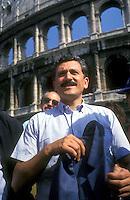 Roma 25 Giugno 1994<br /> Massimo D'Alema del Partito Comunista Italiano alla Manifestazione contro la legge Mamm&igrave;