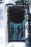 Hector Guimard: Hotel Guimard--entrance. Photo '90.
