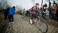 Kuurne-Brussel-Kuurne 2012<br /> Greg Van Avermaet on the Oude Kwaremont