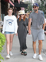 NEW YORK, NY - JULY 20:  Julianne Moore and family spotted  in New York, New York on July 20, 2016.  Photo Credit: Rainmaker Photo/MediaPunch