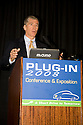 Steve Specker, President & CEO, Electric Power Research Institute (EPRI). Opening day of the July 22-24 inaugural Plug-In 2008 Conference & Exposition: A Short Drive to Tomorrow in San Jose, CA. The event showcases the latest technological advances, market research and policy initiatives shaping the future of plug-in hybrid electric vehicles (PHEVs). Original photo is high-resolution (4368 x 2912 pixels).