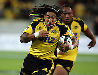 Hurricanes second five Ma'a Nonu heads for the tryline during the Super 14 rugby match between the Hurricanes and Crusaders at Westpac Stadium, Wellington, New Zealand on Friday, 2 April 2010. Photo: Dave Lintott / lintottphoto.co.nz