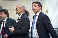 Matteo Renzi (PD) during the italian first president Matteo Renzi in Milan for EXPO, on May 13, 2014. Photo: Adamo Di Loreto/BuenaVista*photo